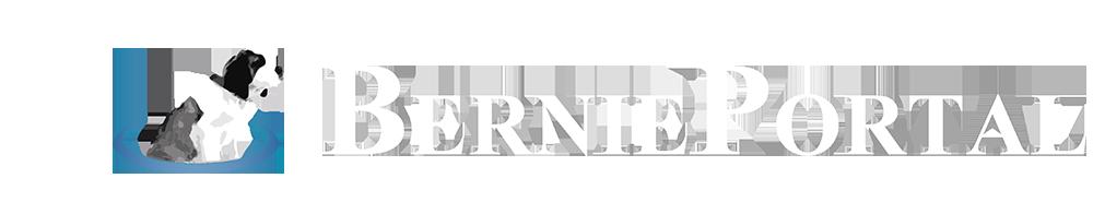 BerniePortal logo white, blue dog, no background.png